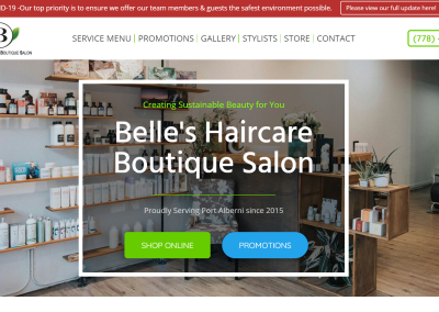 Belles Haircare Boutique Salon
